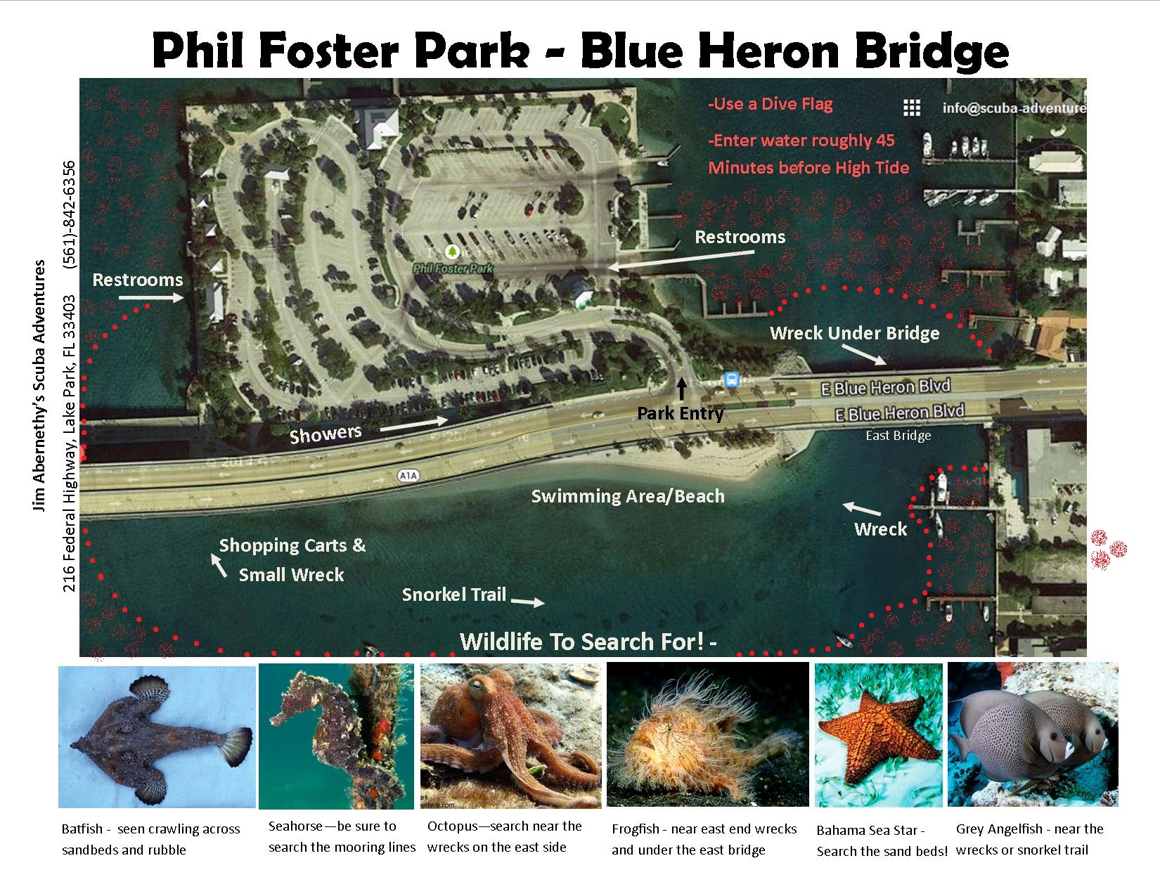 blue heron bridge map